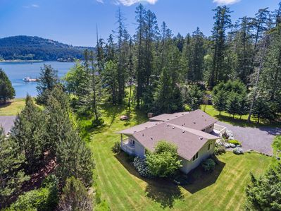 Beautiful San Juan Island Beach House on waterfront with private beach area.