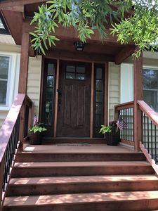 Front Entrance with Smart Key Lock.