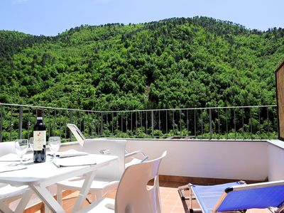 Photo for Panoramic 2 Bedrooms Apartment In The Old Part Of Pigna With Balcony And Terrace