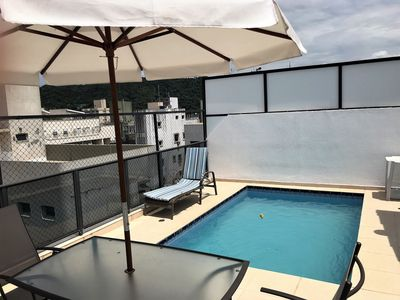 Photo for Duplex Penthouse with private pool and barbecue near the Beach