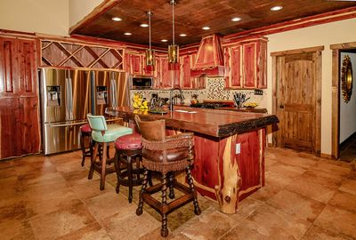 Kitchen Bar with Two refrigerators