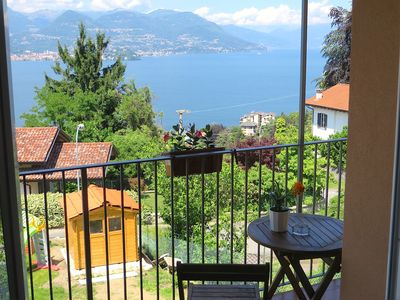 Photo for Kenya apartment on the first hill over Stresa with lakeview