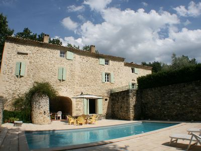 Photo for Provencal farmhouse with a pool, near Grignan, 8 pers.