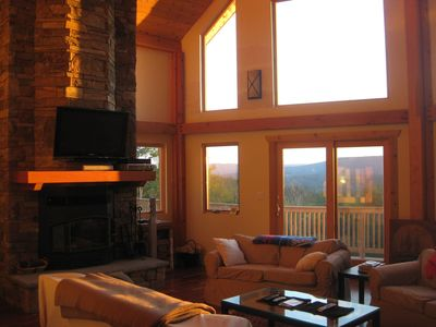 Great Room 2nd Flr, opens to front deck. Fireplace TV stereo seating for 10