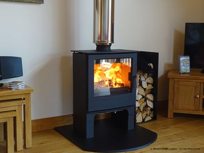 Wood Burning Stoves  in all our Lodges