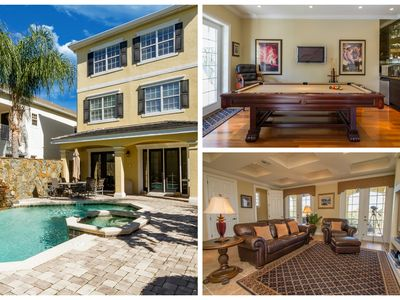 Photo for Exquisite Luxury Home Saltwater Pool/Spa, minutes to WDW/ FREE WIFI