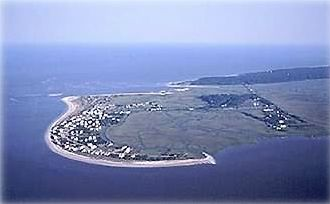 Harbor Island From the NW; Pelican Point is at Top Left