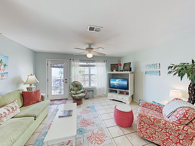 Photo for New Listing! Crow's Nest Condo: Pool, Lagoon & Gulf-View Deck - Walk to Beach
