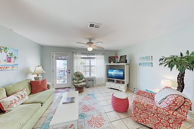 Living Area - Welcome to the beach! This condo is professionally managed by TurnKey Vacation Rentals.