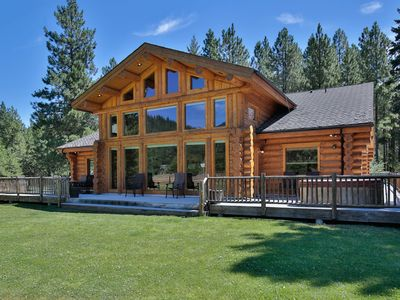 Photo for Cornerstone ~ Luxurious Log Home ~ Game Room ~ Outdoor Pool ~ Hot Tub