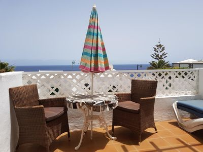 Photo for Air Conditioned Studio Apartment, Pool, Sea Views, Wi-Fi, UK & Irish TV + sports