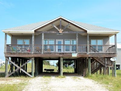 Photo for Family friendly and pet friendly home with great water views from porches.