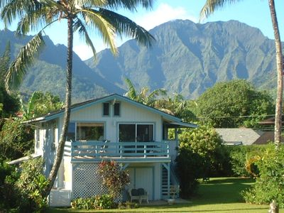 Photo for Great location! Sweet home! 2 minute walk to Hanalei beach. Bikes too! TVNC1320