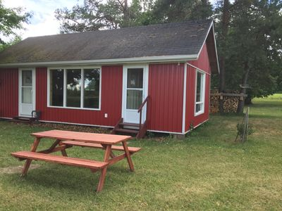 This is the cabin.  Picnic table(s) available.  Enjoy the outdoors!