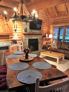 Photo for Gorgeous 4 bedroom Log Cabin in Pigeon Forge 8-10 PP!  Newly remodeled! Close in