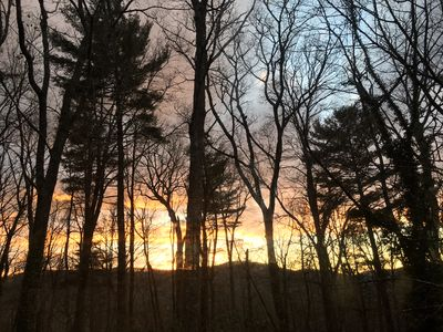Winter Sunset From The Master Bedroom