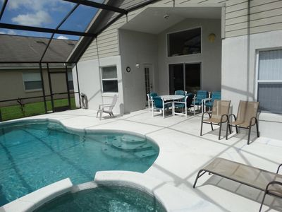 Photo for South Facing Pool 4 Bedroom Private Pool Home Sleeps 10!
