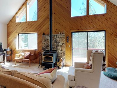 Photo for NEW LISTING! Dog-friendly forest cabin w/ fireplace, deck, & grill
