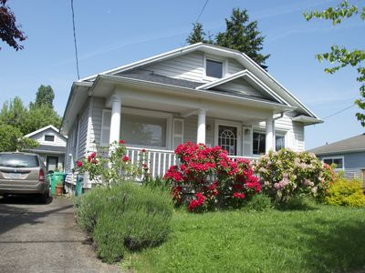 Photo for Artsy bungalow in charming St. Johns neighborhood
