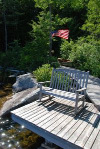 Lakeside deck with rocker