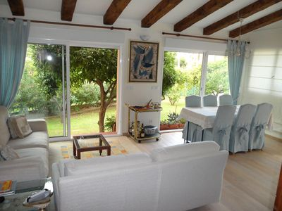 Photo for 2 steps from the beautiful villa beaches with gardens