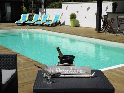 Photo for Near beaches,  villa 4* -10pers -heated pool, jacuzzi