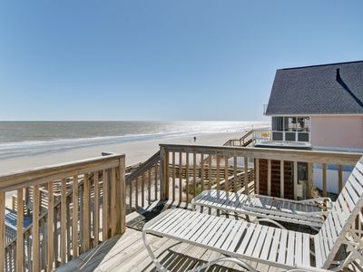 Photo for Oceanfront home w/ easy beach access, full kitchen, and free WiFi!
