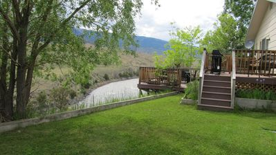 House on the Yellowstone River and Border of Yellowstone Park