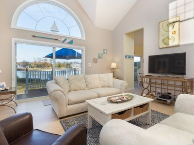 Photo for NEW LISTING! Waterfront townhome w/deck, sunroom, amazing bay view & shared pool