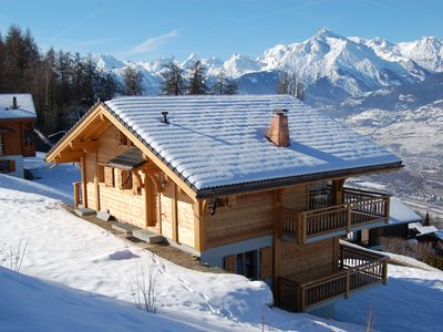 Photo for Large comfortable chalet with views of Sion in the Quatres Valleés