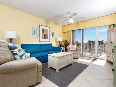 Photo for Gulf Dunes 116: Directly on the beach, 2bed/2bath, free beach chairs