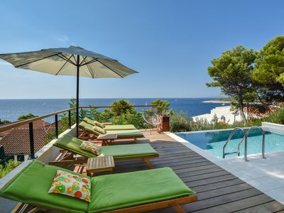 Photo for Sea View ower the Pakleni Island Archipelago, 100m from Sea and Private Pool