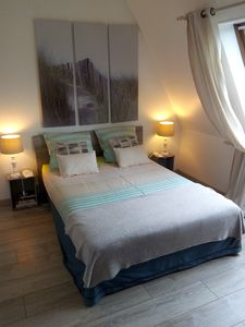 Photo for large 2 rooms, private PARKING, 200m sea, linen provided