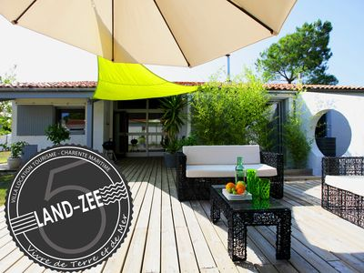 Photo for Villa Land-Zee, 10 minutes from Royan, 8 people, 4 bedrooms, large garden, terrace