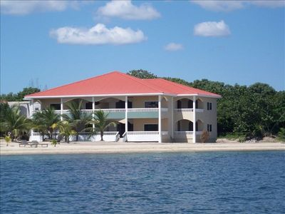 Photo for Oceanfront Condo in Los Porticos Villas Near Placencia Village (Villa 8D)