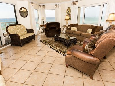 Photo for IR 401 is 3 BR Gulf front with Free beach Service for 2 - washer/dryer
