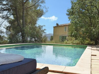Photo for At 90m high rock formation of authentically renovated house with private pool