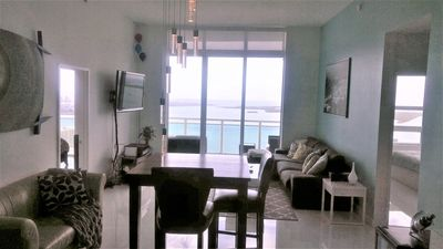Photo for STUNNING 2/2 PENTHOUSE WITH UNOBSTRUCTED WATER VIEW ON BRICKELL