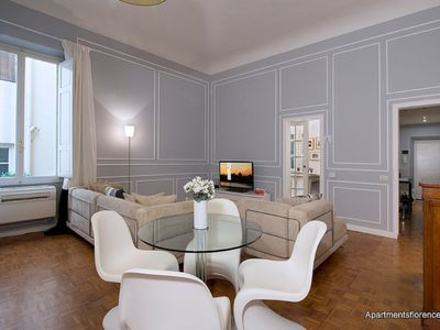 Photo for This chic apartment rental is located just minutes away from the historic Ponte Vecchio.