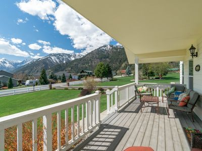 Photo for Spacious home w/ private hot tub & mountain views - near town and skiing!