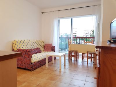 Photo for Nice studio with balcony - Beach 2 minutes walk - 2 mn walk from the beach