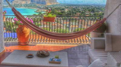 Photo for MONDELLO LA TERRAZZA SUL MARE Apartment with a super panoramic view of the gulf