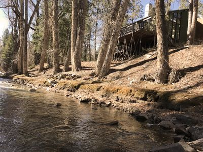 Photo for THE PONDEROSA ON CHALK CREEK  * Authentic Mtn Home * Game Room *