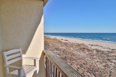 View from beachfront balcony located off living room