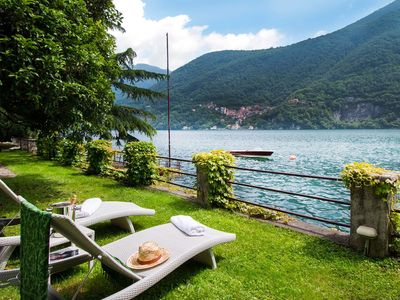 Photo for Villa Traversi is a Historic villa with private pool and jacuzzi in Lake Como, with 4 bedrooms