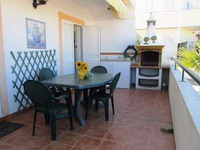 Photo for Peaceful holidays, large terrace, spacious apartment close to beaches