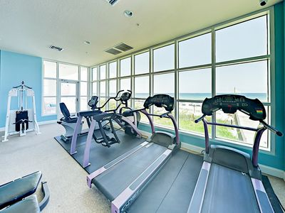 Fitness Center - Wake up with a morning workout at the fitness center overlooking the beach.