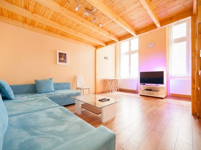 Photo for Two bedroom apartment in the center of Budapest, 150 meters from the Danube
