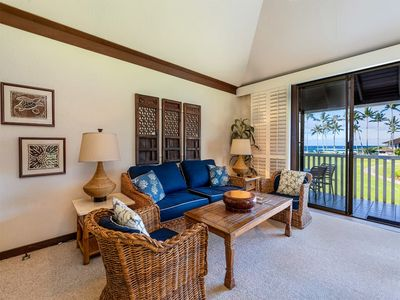 Photo for Awesome Poipu View w/Kitchen, WiFi, Lanai, Flat Screen, DVD+Ceiling Fans–Kiahuna 2035
