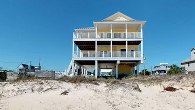 "Photo for Ready after Hurricane Michael! FREE BEACH GEAR! Beach Front, Pool, Elevator, Private Boardwalk, Wi-Fi, 5BR/5.5BA ""Sweet TEA"""